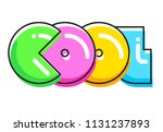 colorful inscription cool....   Shutterstock .eps vector #1131237893