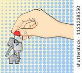 pop art background. the hand... | Shutterstock .eps vector #1131238550