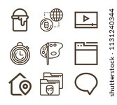 interface related set of 9...   Shutterstock .eps vector #1131240344