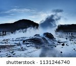 a group of tourists experience... | Shutterstock . vector #1131246740