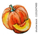 pumpkin. image isolated on... | Shutterstock . vector #1131247400
