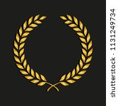 gold award laurel wreath.... | Shutterstock .eps vector #1131249734