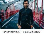 half length portrait of serious ... | Shutterstock . vector #1131252809
