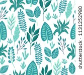 seamless pattern with tropical... | Shutterstock .eps vector #1131252980