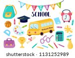 education hand drawn set. | Shutterstock .eps vector #1131252989