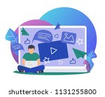 online news  social networks ...   Shutterstock .eps vector #1131255800