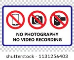 no photography and no video... | Shutterstock .eps vector #1131256403