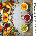 concept of healthy vegetable... | Shutterstock . vector #1131257369