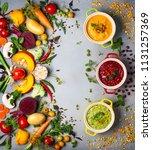 concept of healthy vegetable... | Shutterstock . vector #1131257369