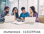 group of skilled professional... | Shutterstock . vector #1131259166