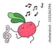 funny cartoon fruitdancer... | Shutterstock .eps vector #1131261596