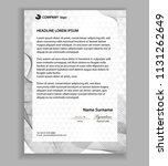 letterhead template  business... | Shutterstock .eps vector #1131262649