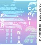 california palm beach club tee... | Shutterstock .eps vector #1131265790