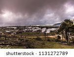 rainy day with fog and clouds... | Shutterstock . vector #1131272789