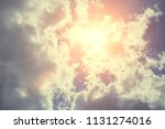 beautiful sky with fluffy clouds | Shutterstock . vector #1131274016