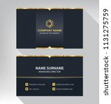 business model name card luxury ... | Shutterstock .eps vector #1131275759