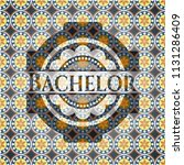 bachelor arabic style badge.... | Shutterstock .eps vector #1131286409