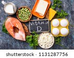 healthy foods containing... | Shutterstock . vector #1131287756