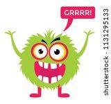 game cartoon monster growling... | Shutterstock .eps vector #1131295133
