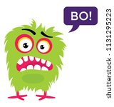 angry cartoon monster... | Shutterstock .eps vector #1131295223