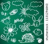 children's drawings. elements...   Shutterstock .eps vector #1131296843