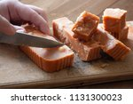cut pieces of sweet oriental... | Shutterstock . vector #1131300023