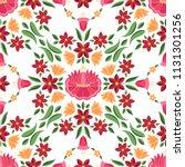 hungarian folk pattern vector... | Shutterstock .eps vector #1131301256