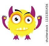 cute cartoon fluffy and furry...   Shutterstock .eps vector #1131301436