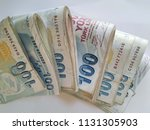 turkish lira   turkish turk... | Shutterstock . vector #1131305903