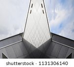 textured metal walls with grid...   Shutterstock . vector #1131306140