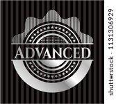 advanced silver emblem or badge | Shutterstock .eps vector #1131306929