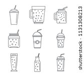 smoothie milkshake fruit juice...   Shutterstock .eps vector #1131308213