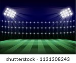 soccer field concept background.... | Shutterstock .eps vector #1131308243