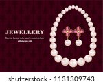 jewellery concept background....   Shutterstock .eps vector #1131309743
