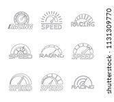 speedometer level indicator... | Shutterstock .eps vector #1131309770