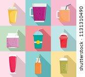 smoothie milkshake fruit juice...   Shutterstock .eps vector #1131310490