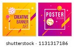 set of creative cover art with... | Shutterstock .eps vector #1131317186