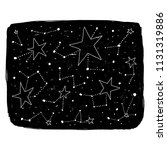 hand drawn backdrop with stars...   Shutterstock .eps vector #1131319886