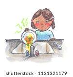 cute cartoon child refusing to... | Shutterstock . vector #1131321179