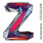 capital latin letter z in low... | Shutterstock . vector #1131321239