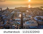 valletta  malta   sunrise and... | Shutterstock . vector #1131322043