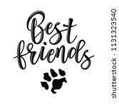 friendship day lettering....   Shutterstock .eps vector #1131323540