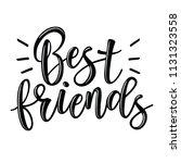 friendship day lettering....   Shutterstock .eps vector #1131323558