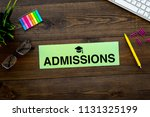 college admission concept. word ... | Shutterstock . vector #1131325199