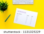 college or school schedule with ... | Shutterstock . vector #1131325229