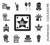set of 13 simple editable icons ... | Shutterstock .eps vector #1131326198