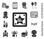 set of 13 simple editable icons ... | Shutterstock .eps vector #1131326414
