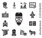 set of 13 simple editable icons ... | Shutterstock .eps vector #1131326420