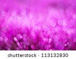 Pink Bokeh Circles Background...