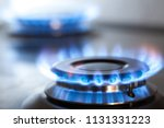 kitchen gas cooker with burning ... | Shutterstock . vector #1131331223
